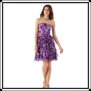 NWT!! WHBM Floral Cascade Dress Size 12